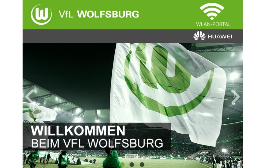 VFL Wolfsburg WLAN Portal